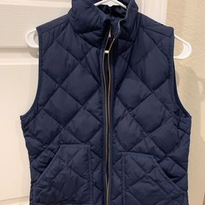 J Crew Quilted Navy Jacket - Size S